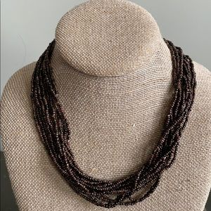 {Silpada} N1815 Bronze Seed Bead Necklace w/box